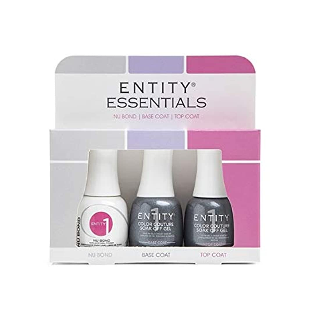 競う法廷挨拶Entity One Color Couture Soak Off Gel - Essentials 3pc KIT