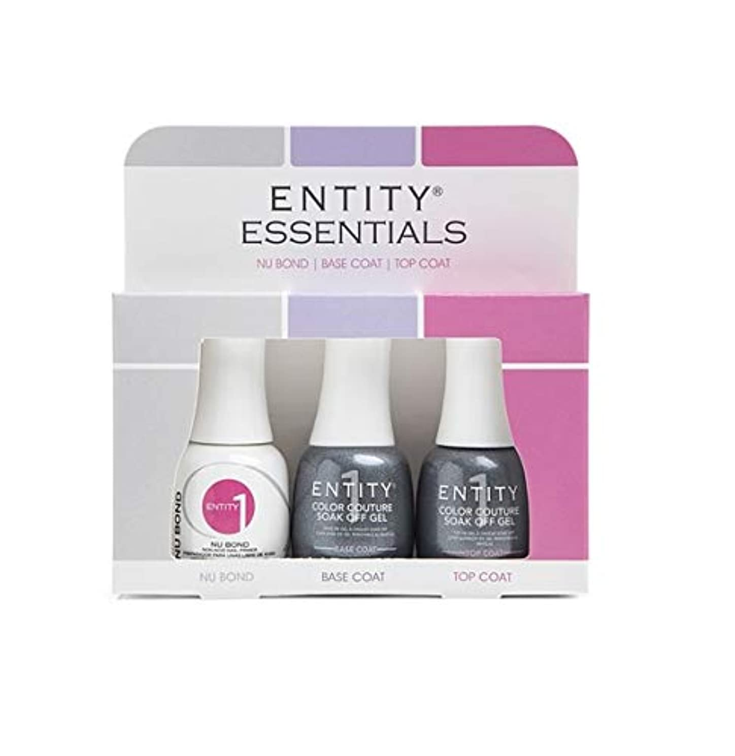 ヤギ絞る噴水Entity One Color Couture Soak Off Gel - Essentials 3pc KIT