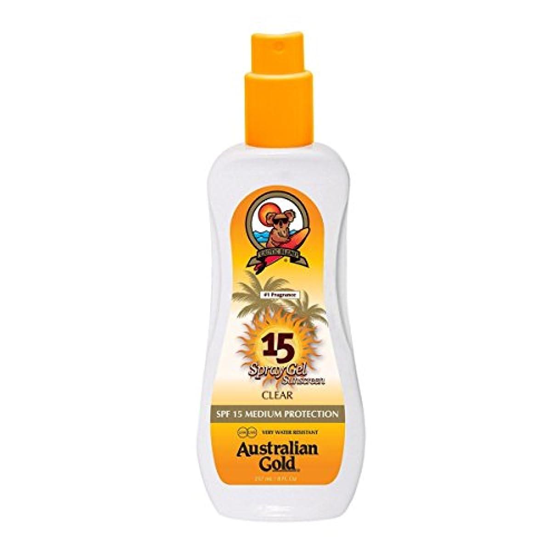 私の広範囲色合いAustralian Gold Spray Gel Spf15 237ml [並行輸入品]