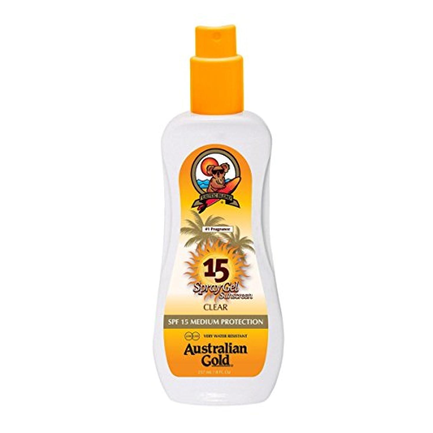 賢明なアレンジオーバーフローAustralian Gold Spray Gel Spf15 237ml [並行輸入品]