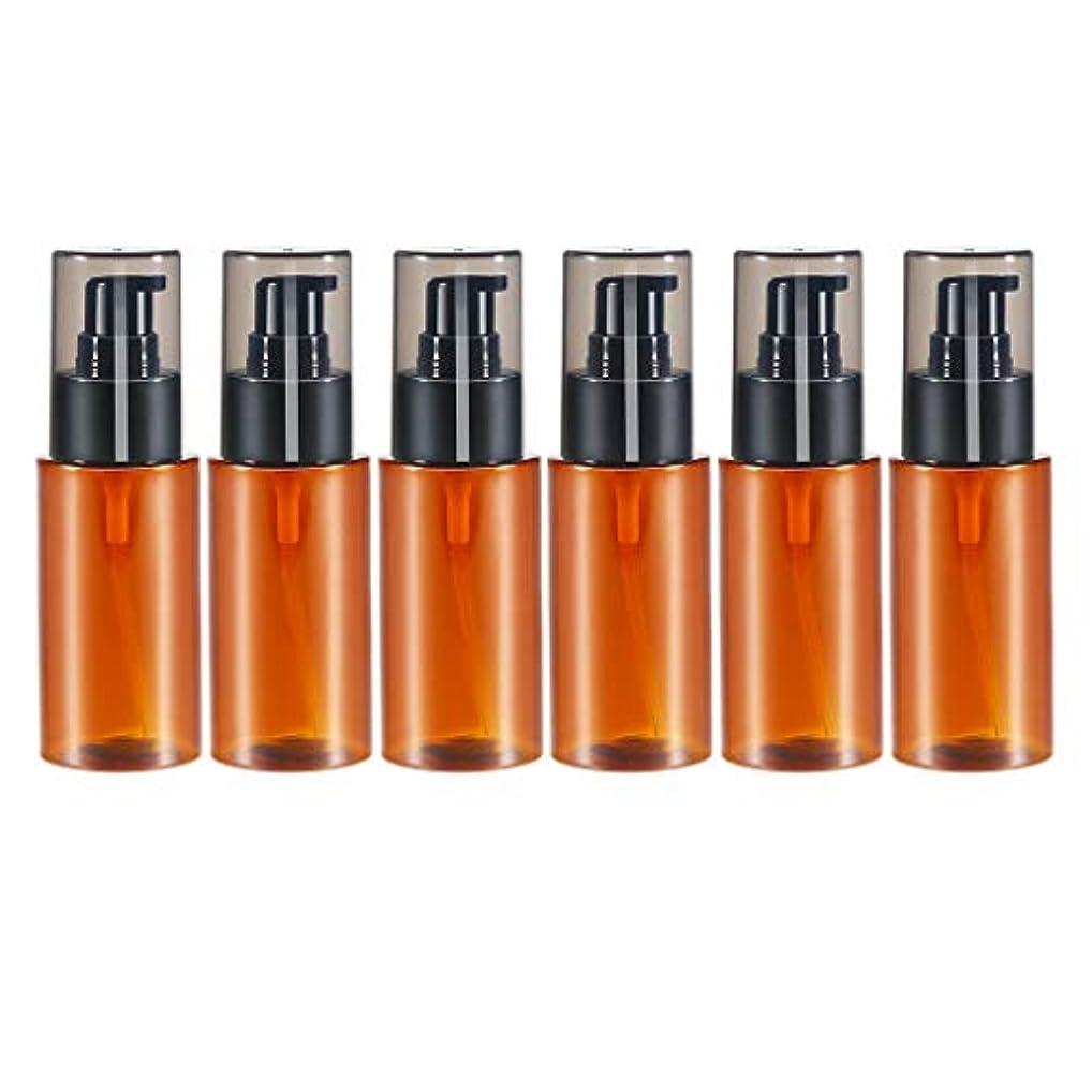 苗ピクニックアラームdailymall スプレーボトル アトマイザー エッセンシャルオイル 化粧品 保存容器詰め替え 60ml 6個 全2色 - 褐色