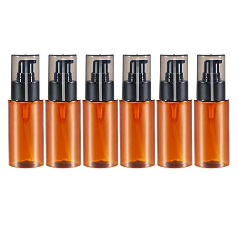 傑出した材料バスタブdailymall スプレーボトル アトマイザー エッセンシャルオイル 化粧品 保存容器詰め替え 60ml 6個 全2色 - 褐色