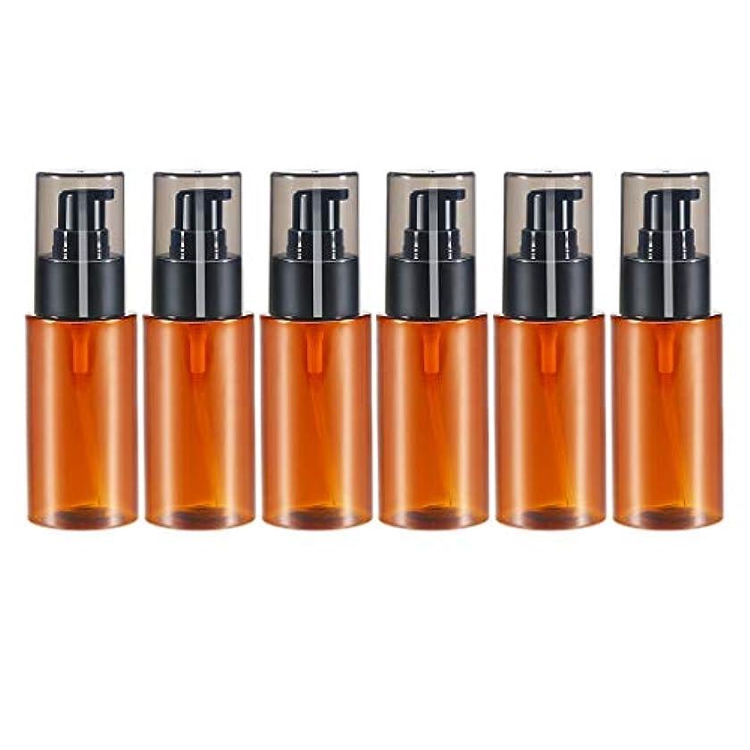 徒歩で上に早熟6個 60ml エッセンシャルオイル 化粧品ボトル スプレーボトル 詰め替え 保存容器 全2色 - 褐色