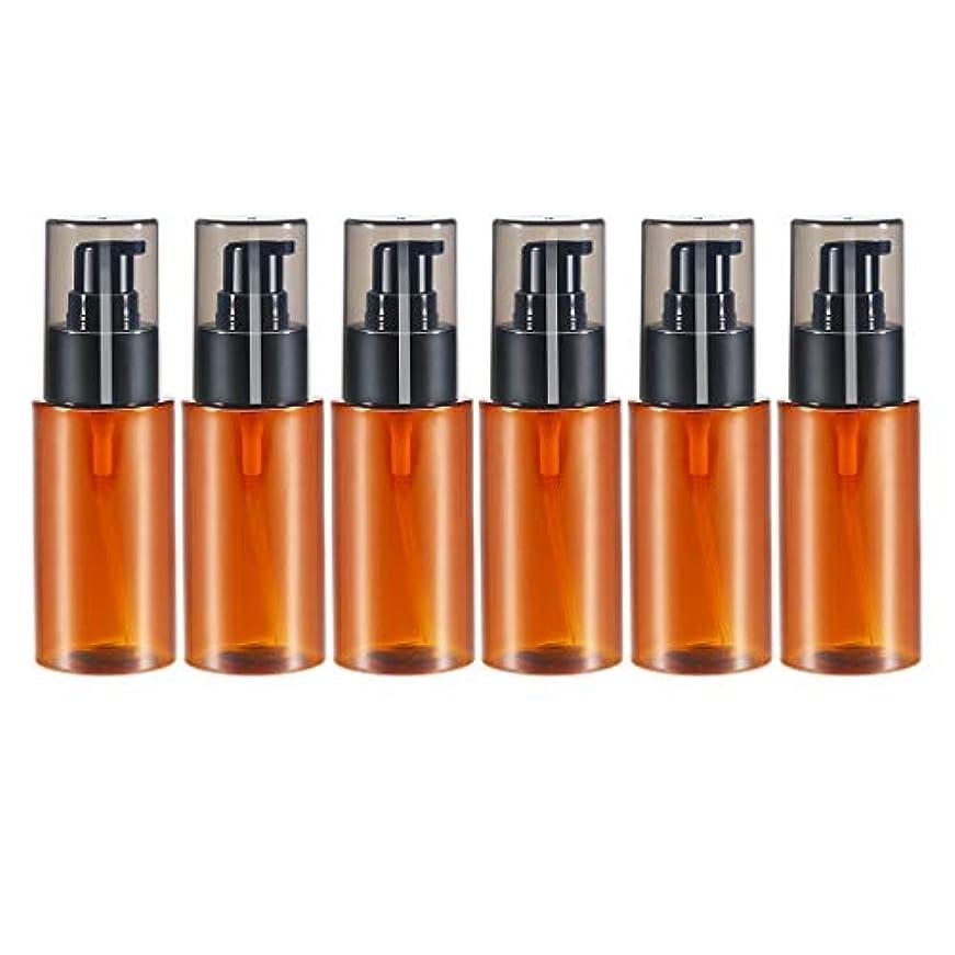 多くの危険がある状況雑品資源dailymall スプレーボトル アトマイザー エッセンシャルオイル 化粧品 保存容器詰め替え 60ml 6個 全2色 - 褐色