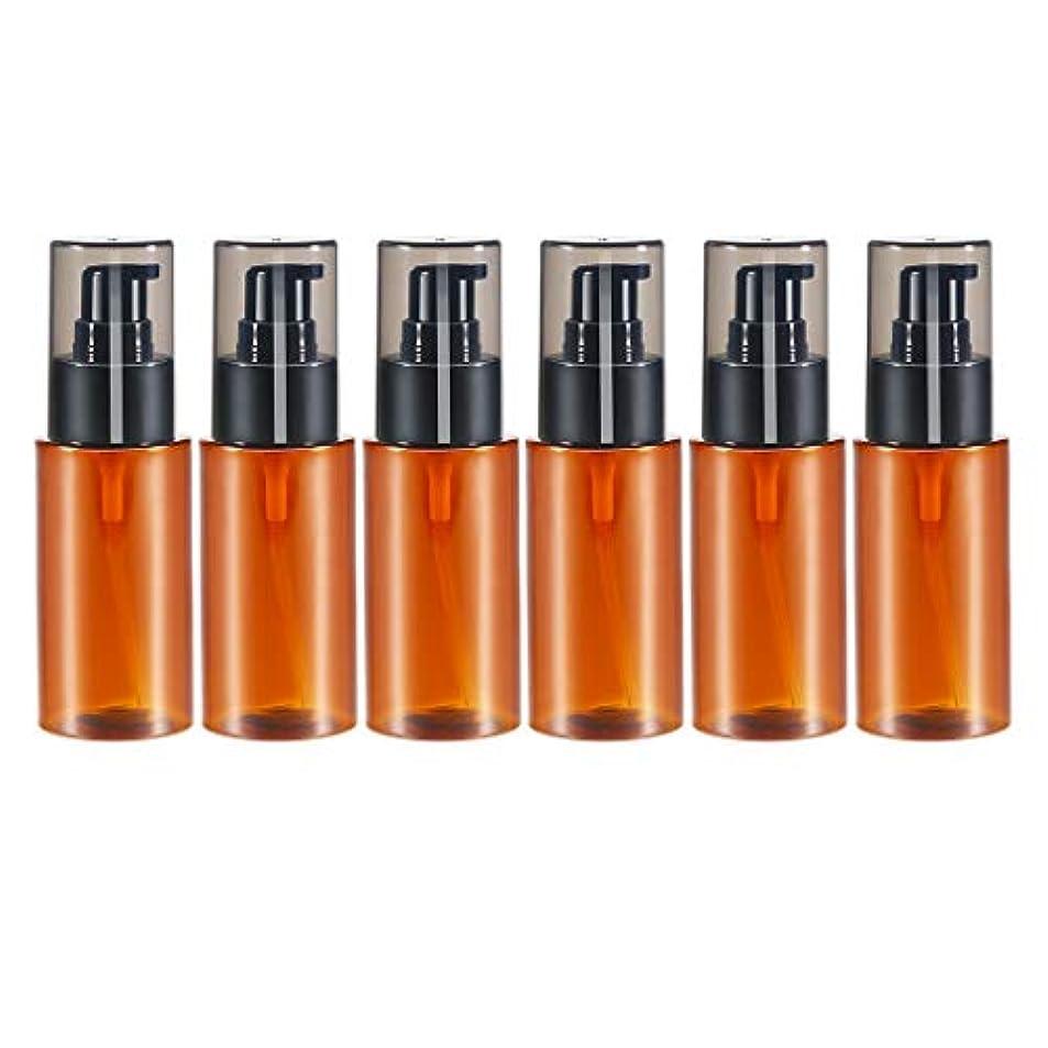 考案するメンタル気まぐれなdailymall スプレーボトル アトマイザー エッセンシャルオイル 化粧品 保存容器詰め替え 60ml 6個 全2色 - 褐色