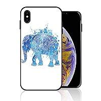 iPhone XR 携帯カバー 青い アフリカ 象 カバー TPU 薄型ケース 防塵 保護カバー 携帯ケース アイフォンケース 対応 ソフト 衝撃吸収 アイフォン スマートフォンケース 耐久