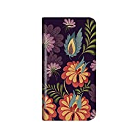 iPhone 8 Plus/7 Plus 薄型デザインPUレザーケース「Design+」 Flower アート