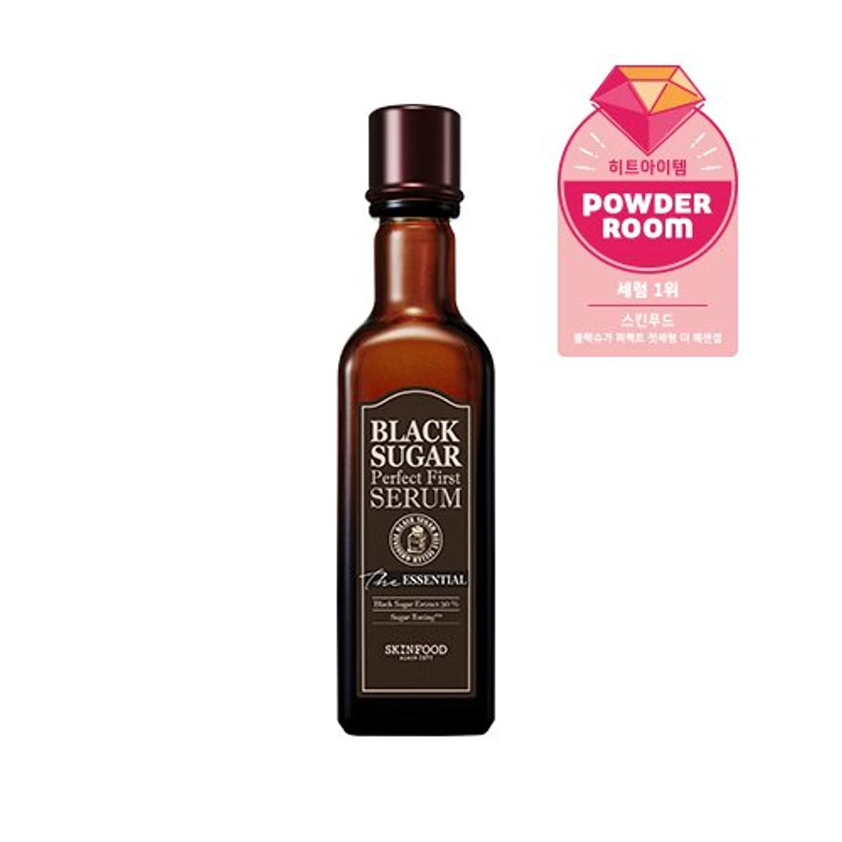 Skinfood black sugar perfect first serum the essential/黒糖完璧な最初の血清必須/120ml +60ea [並行輸入品]