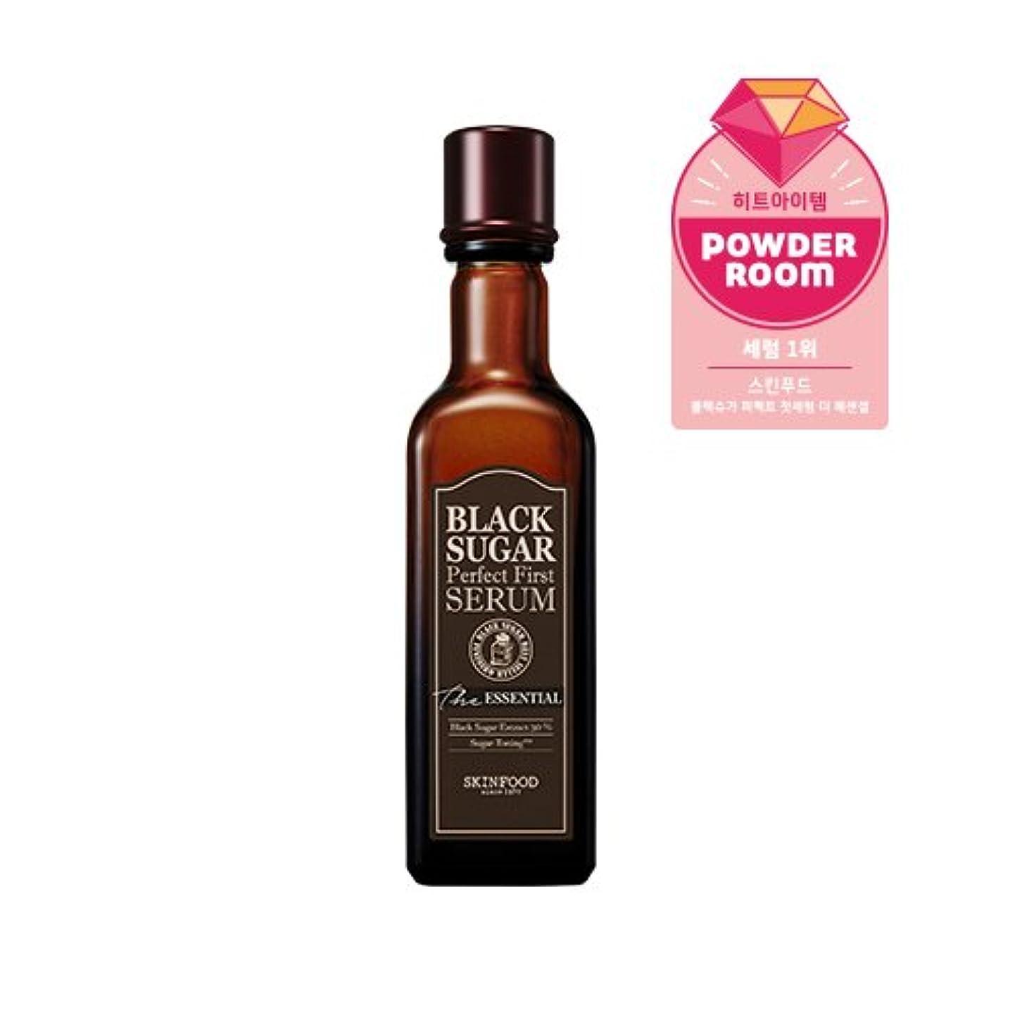 フォーカス用心深い前書きSkinfood black sugar perfect first serum the essential/黒糖完璧な最初の血清必須/120ml +60ea [並行輸入品]