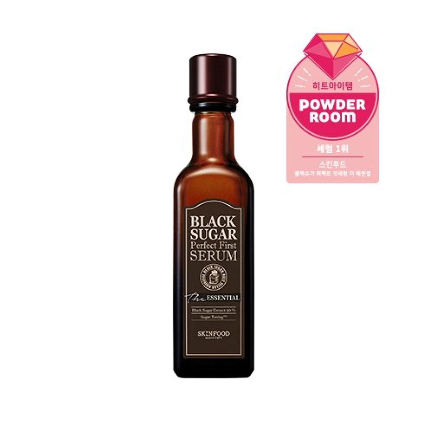 チューリップ風変わりな因子Skinfood black sugar perfect first serum the essential/黒糖完璧な最初の血清必須/120ml +60ea [並行輸入品]