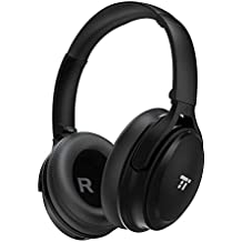 TaoTronics Active Noise Cancelling Bluetooth Headphones Wireless Over Ear Headset Foldable Earphones with Powerful Bass (Dual 40 mm Drivers,30 Hour Playtime, CVC 6.0 Noise-Cancelling Built-in Mic)