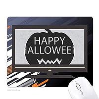 ハロウィーンのカボチャの黒の恐怖 ノンスリップラバーマウスパッドはコンピュータゲームのオフィス