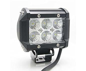 Amilliastyle CREE製 LED 作業灯 18W ワークライト 12V 24V対応 広角タイプ 防水 LED 車外灯 1年保証(BC-18W-Bar)