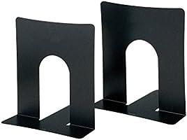 プラス ブックエンド 幅広タイプ 2枚組 36-350 BS-102 ブラック