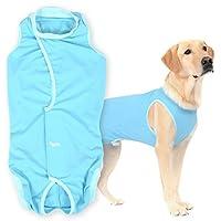 犬猫の服 full of vigor 獣医師と共同開発 犬用 術後服エリザベスウエア(R) 大型犬用 男の子 雄用 カラー 7 ブルー サイズ BS フルオブビガー