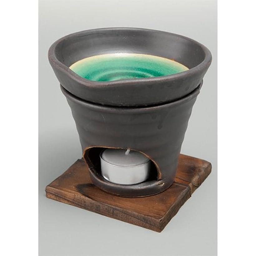 マリナーセメントカニ香炉 黒釉 茶香炉(緑) [R11.8xH11.5cm] HANDMADE プレゼント ギフト 和食器 かわいい インテリア