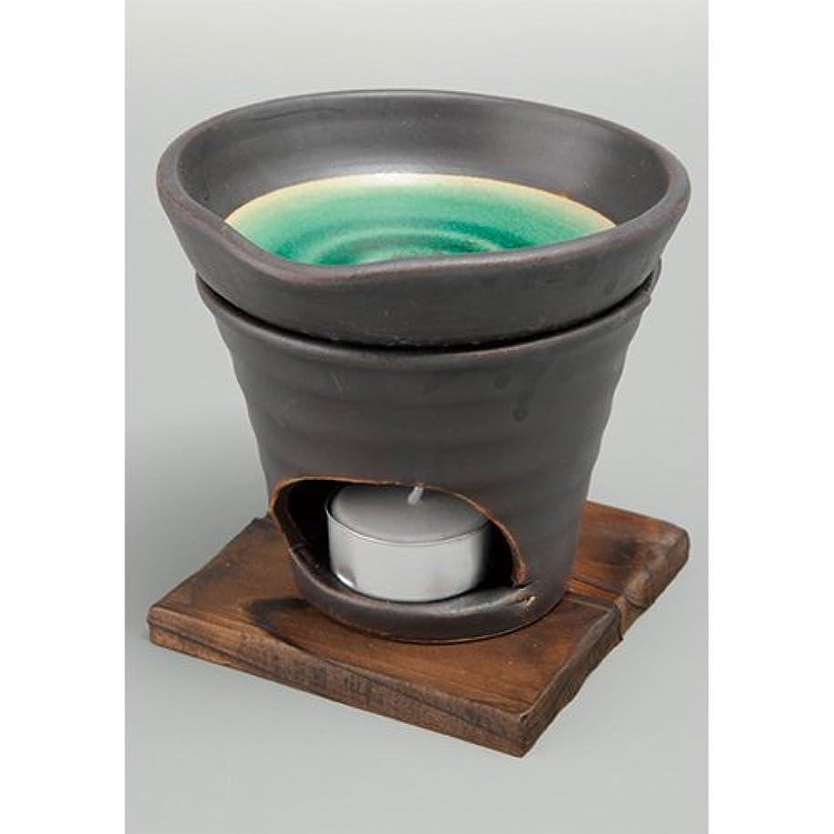 金貸し公戻る香炉 黒釉 茶香炉(緑) [R11.8xH11.5cm] HANDMADE プレゼント ギフト 和食器 かわいい インテリア