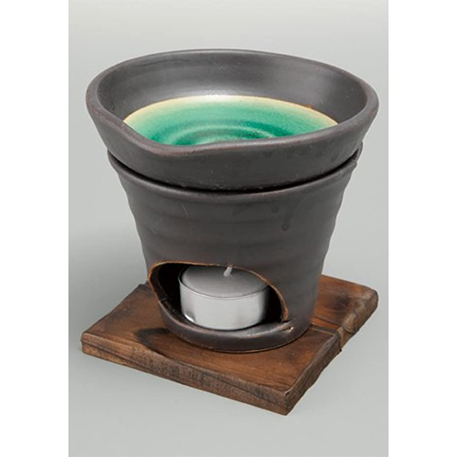テープ暴力的なテント香炉 黒釉 茶香炉(緑) [R11.8xH11.5cm] HANDMADE プレゼント ギフト 和食器 かわいい インテリア