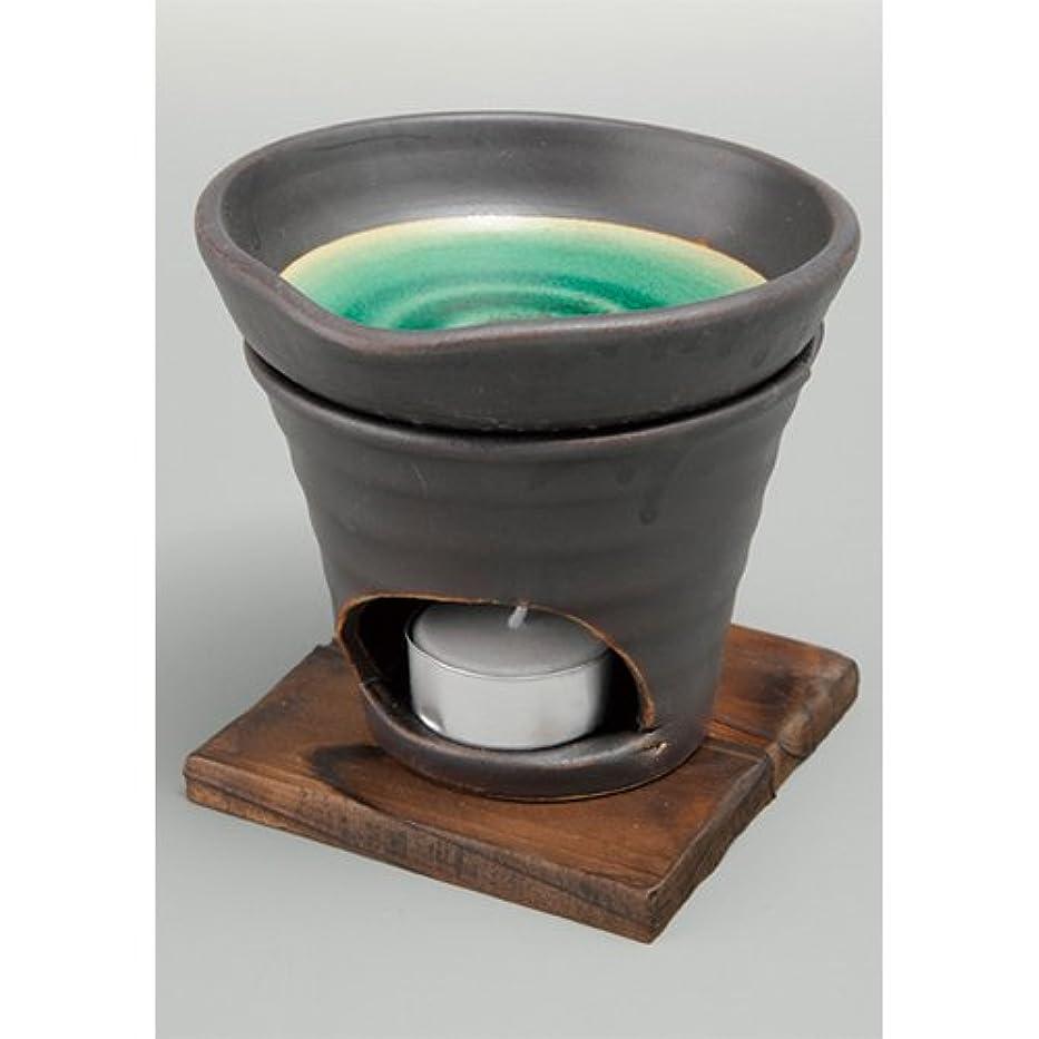 隠すモンキーエクスタシー香炉 黒釉 茶香炉(緑) [R11.8xH11.5cm] HANDMADE プレゼント ギフト 和食器 かわいい インテリア