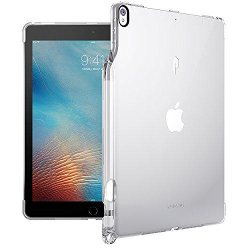 iPad Pro 10.5 ケース Poetic -[Lumos Series]- アップル 10.5型 アイパッド プロ 対応 [ウルトラスリム] [TPU製 ケース] Smart Keyboard 対応 Apple Pencil 収納スロット付き (クリスタルクリア)