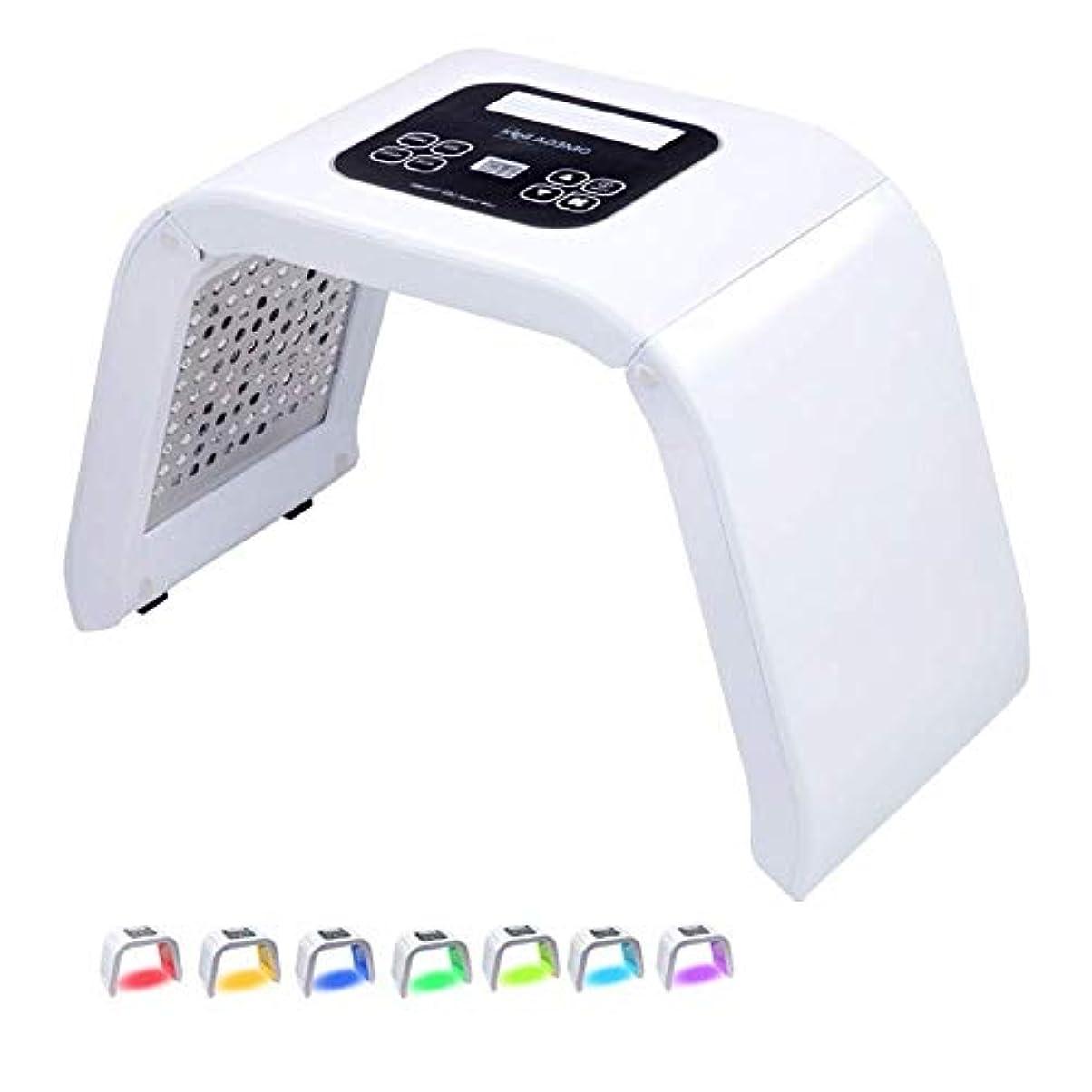 破滅的なシロクマコメンテーター7色顔のスキンケアデバイス美容機器電気フェイスタイトホワイトニングリフティング光線療法分光器PDT / LED