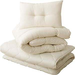 エムール 布団セット 「クラッセ」 セミダブルセット(掛け布団 敷き布団 枕) 防ダニ 抗菌 防臭 綿100% 日本製