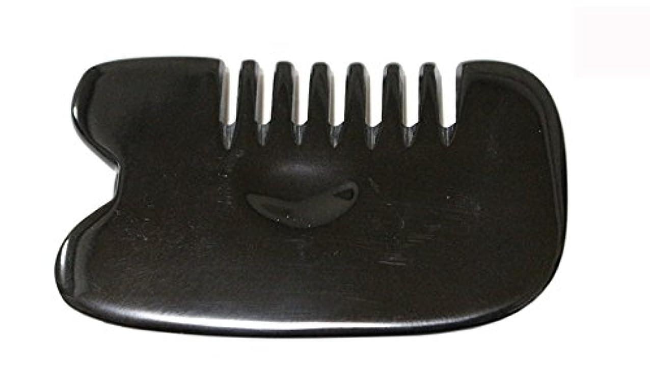 騒単独で解くLaLa Mart 100% 天然牛の角 美顔用かっさ板 カッサプレート 特厚 櫛型 美容 マッサージ カッサ板 指圧代行器 水牛の角 血行促進冷え症改善