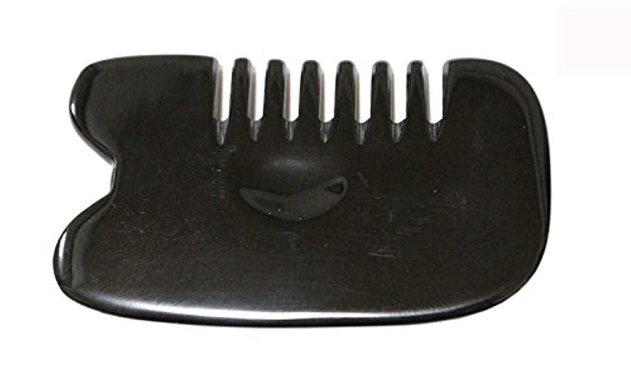 サスティーン資本ラベンダーLaLa Mart 100% 天然牛の角 美顔用かっさ板 カッサプレート 特厚 櫛型 美容 マッサージ カッサ板 指圧代行器 水牛の角 血行促進冷え症改善