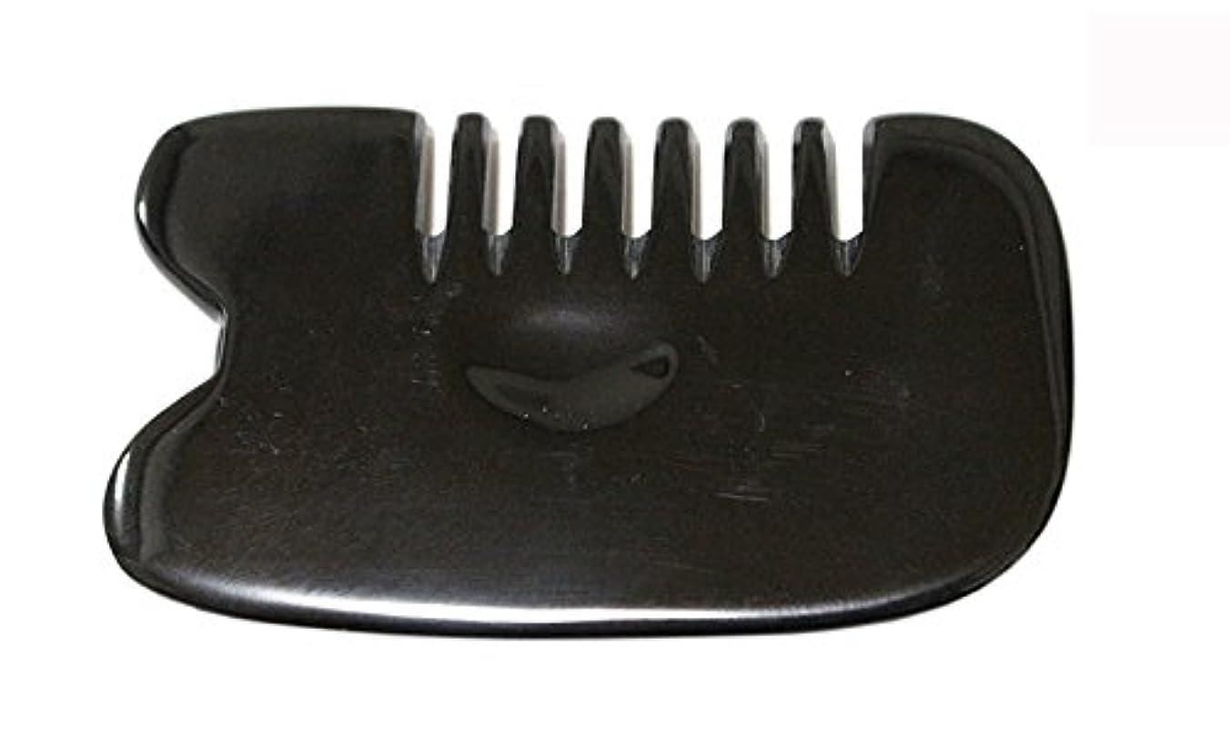 パワーセル違反する尾LaLa Mart 100% 天然牛の角 美顔用かっさ板 カッサプレート 特厚 櫛型 美容 マッサージ カッサ板 指圧代行器 水牛の角 血行促進冷え症改善