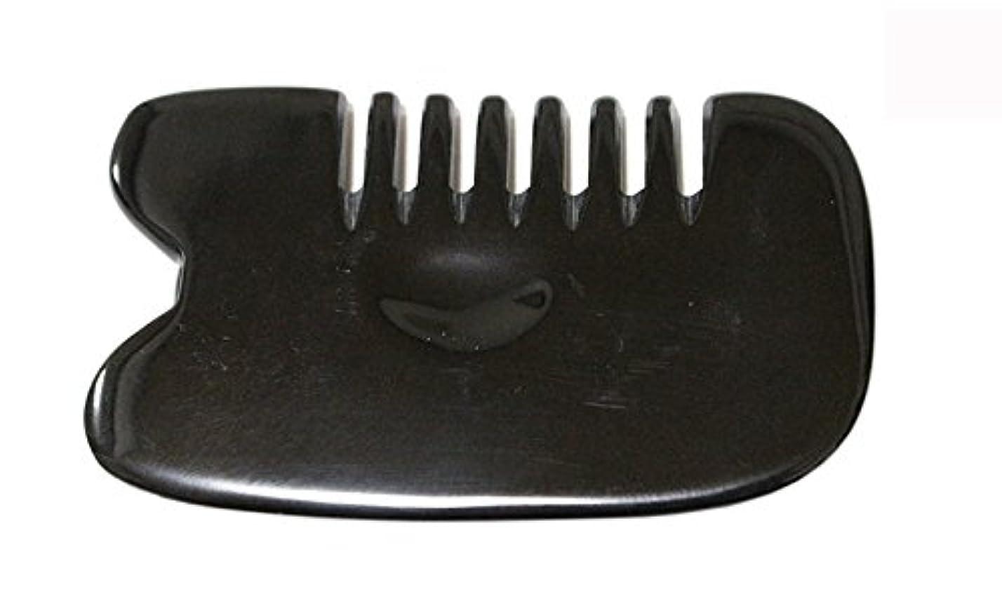 予約因子生態学LaLa Mart 100% 天然牛の角 美顔用かっさ板 カッサプレート 特厚 櫛型 美容 マッサージ カッサ板 指圧代行器 水牛の角 血行促進冷え症改善