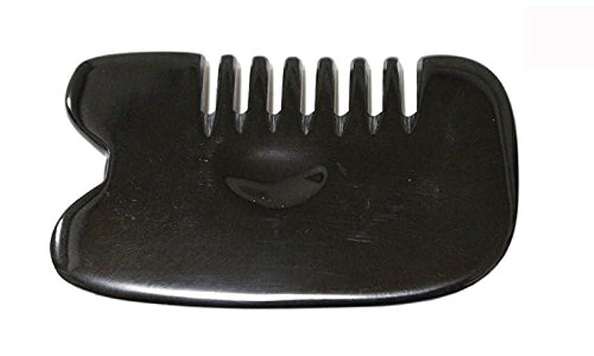 プロペラ操る浪費LaLa Mart 100% 天然牛の角 美顔用かっさ板 カッサプレート 特厚 櫛型 美容 マッサージ カッサ板 指圧代行器 水牛の角 血行促進冷え症改善