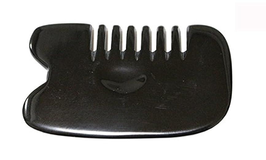 州見込みプリーツLaLa Mart 100% 天然牛の角 美顔用かっさ板 カッサプレート 特厚 櫛型 美容 マッサージ カッサ板 指圧代行器 水牛の角 血行促進冷え症改善