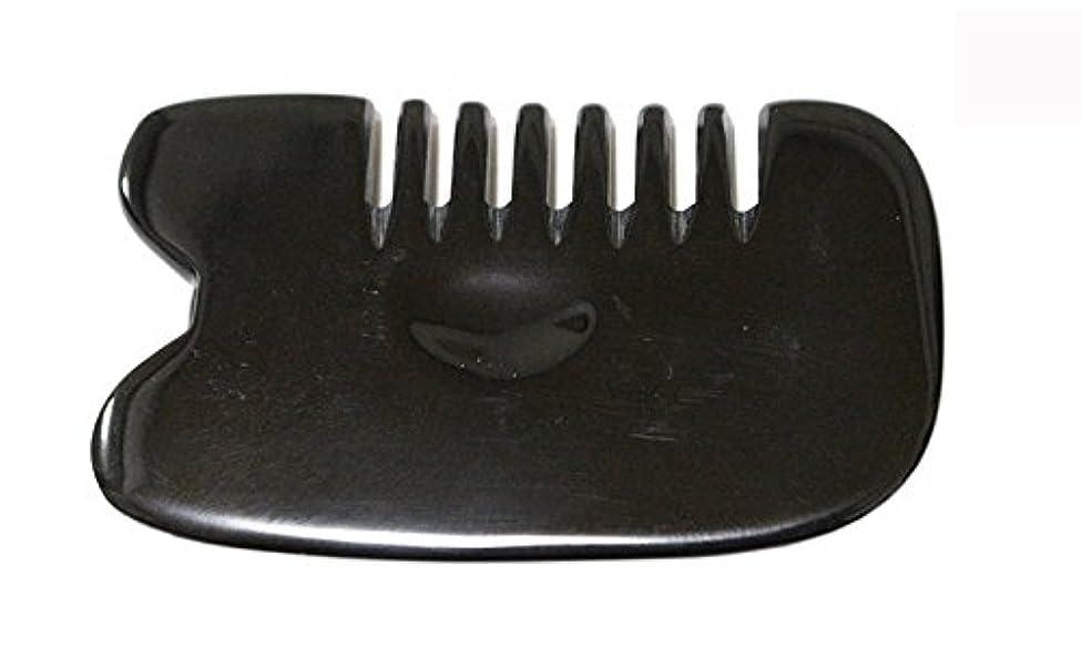 変更可能試用等々LaLa Mart 100% 天然牛の角 美顔用かっさ板 カッサプレート 特厚 櫛型 美容 マッサージ カッサ板 指圧代行器 水牛の角 血行促進冷え症改善