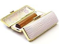 「金色飛羽(こんじきひば)印鑑16.5mm×60mmクッキーケース(ピンク)付き」 横彫り 篆書体