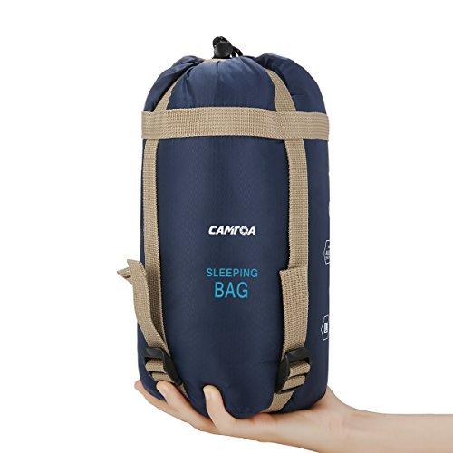CAMTOA アウトドアシュラフ 寝袋 封筒型 シュラフ 超軽量 ミニ収納 キャンプシュラフ アウトドア キャンプ ...