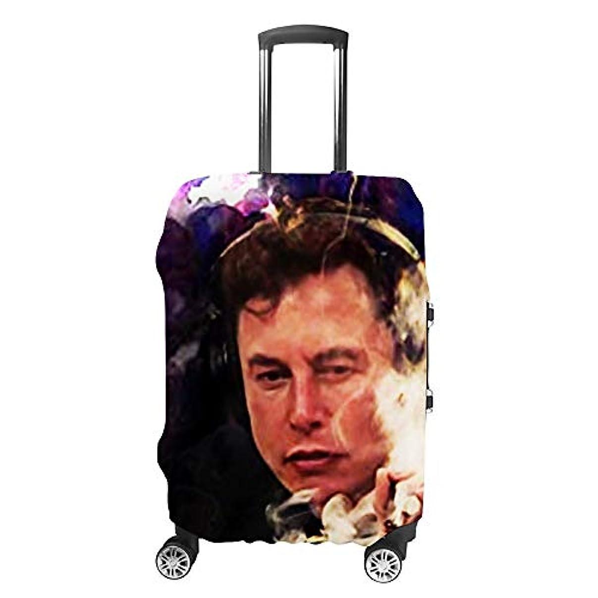 アフリカ煙突染料Elon Musk ファッション旅行荷物カバースーツケース荷物プロテクター旅行カバー男性用女性用