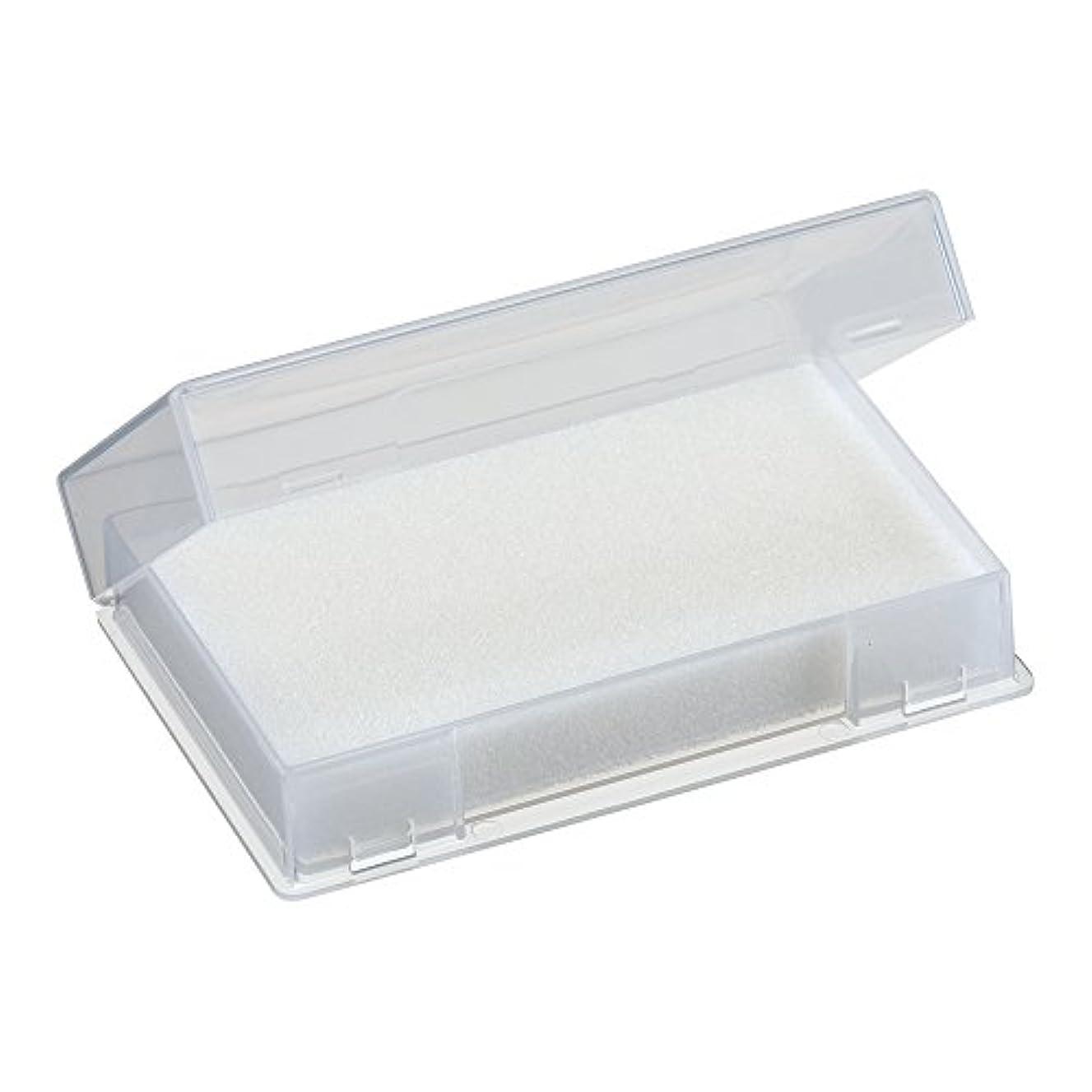 研磨栄養控えめなネイルチップケース ホワイト