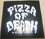 PIZZA OF DEATH(ピザオブデス)ステッカー 黒×白