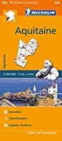 Michelin Aquitaine: Strassen- und Tourismuskarte 1:200.000