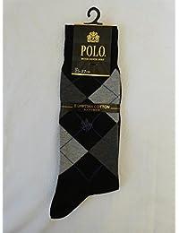 グンゼ POLO 紳士 ポロ 高級エジプト綿混 ソックス PBD211 026 ブラック