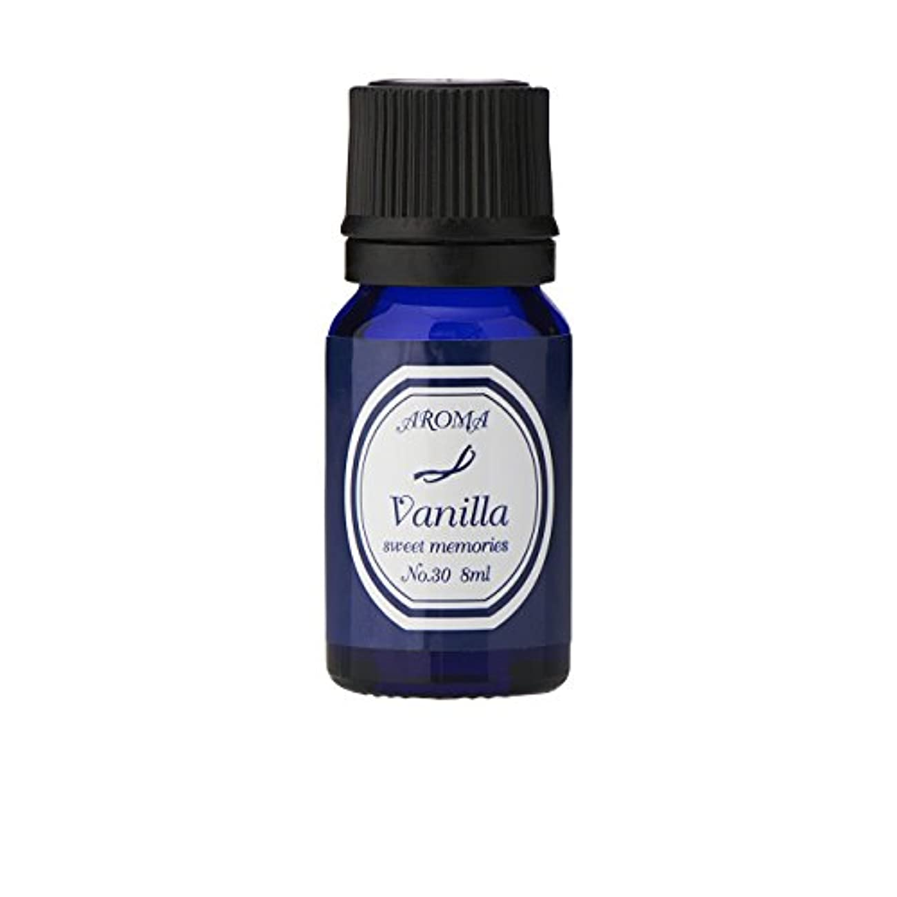 ボイラー櫛クッションブルーラベル アロマエッセンス8ml バニラ(アロマオイル 調合香料 芳香用)