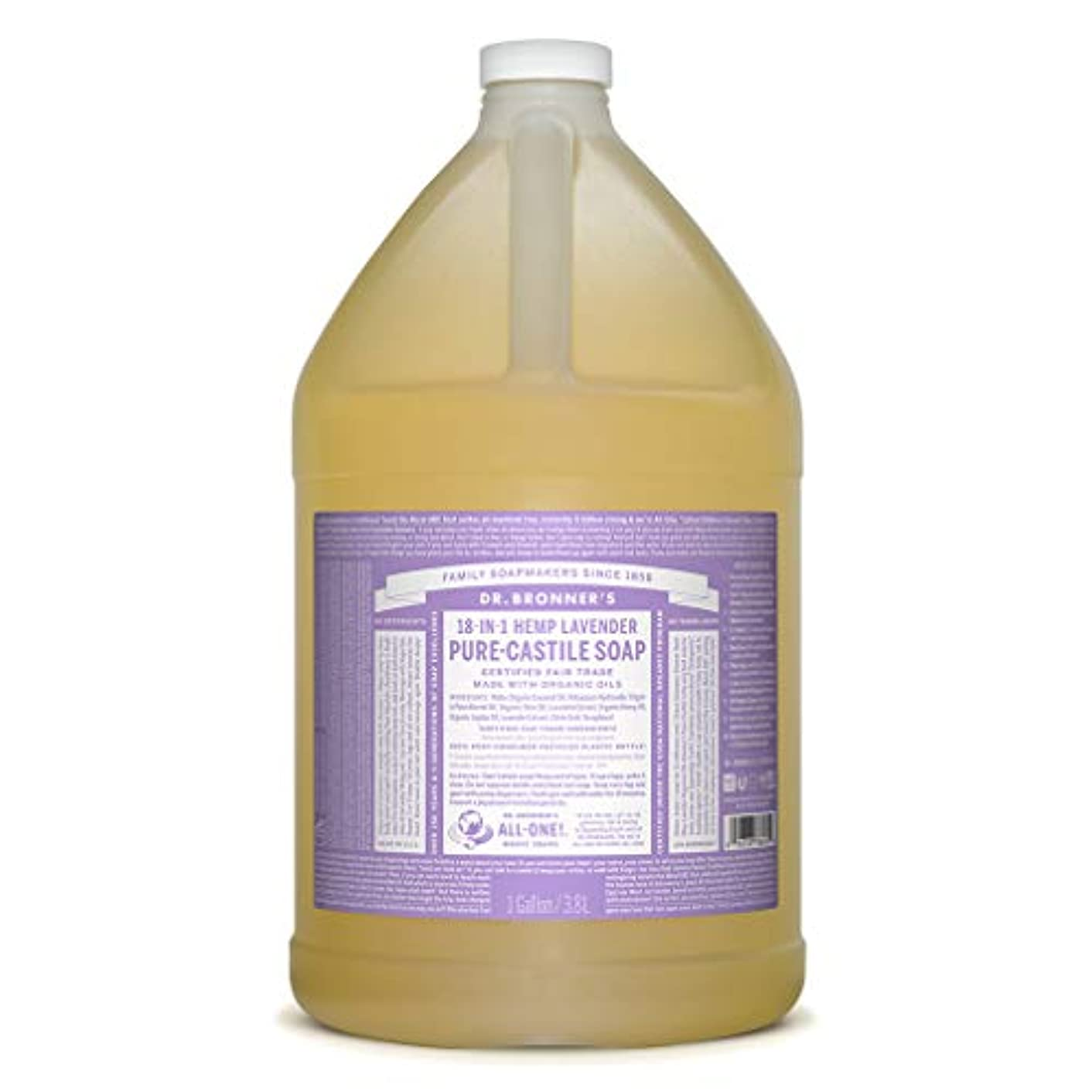 オープニング完全に減少ドクターブロナー マジックソープ液体 ラベンダー 3776ml