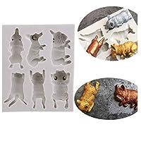 鋳型 焼き菓子型 シリコーン製 ケーキ チョコレート 手作り石鹸モールド DIY 有能な主婦 手作り 猫と犬 使い安いsunninko