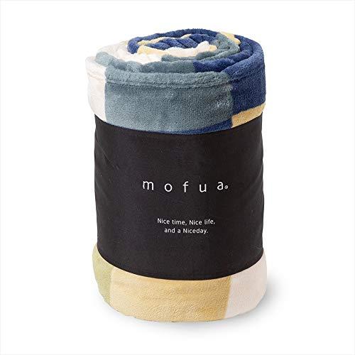 mofua(モフア)毛布 シングル チェック柄グリーン 1年間品質保証 静電気防止加工 プレミアムマイクロファイバー 500001C9