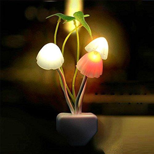 Sherry LED ナイト ライト きのこランプ 明暗セン...