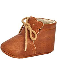 perfk 赤ちゃん 女の子 柔らかい 滑り止め 靴 トレーニングシューズ PUレザー 全3サイズ