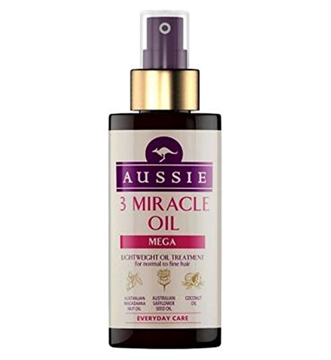 オーラルもちろん郵便屋さん細い髪の100ミリリットルに、通常のためのオージー3奇跡のオイルメガ (Aussie) (x2) - Aussie 3 Miracle Oil Mega for Normal to Fine Hair 100ml (Pack...
