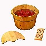 足専用 [ 足浴器 足浴桶 足湯器 足湯桶 フットバス器 フットケア 足浴桶 足の浴槽、木製の足の盆 ]