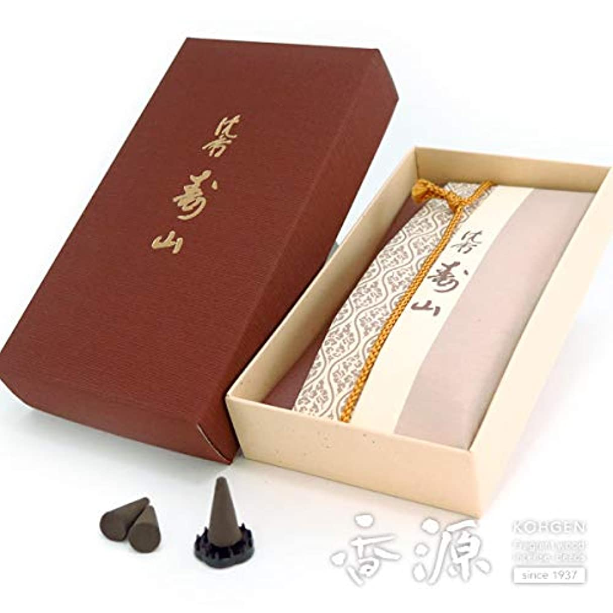 ケーキに同意する換気する日本香堂のお香 沈香寿山 コーン型24個入