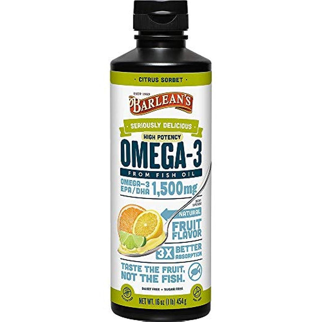 Omega Swirl, Ultra High Potency Fish Oil, Citrus Sorbet - Barlean's - UK Seller by Barlean's